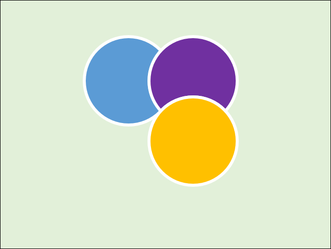 PowerPoint-建立四個圓形層層堆疊而成的圖案