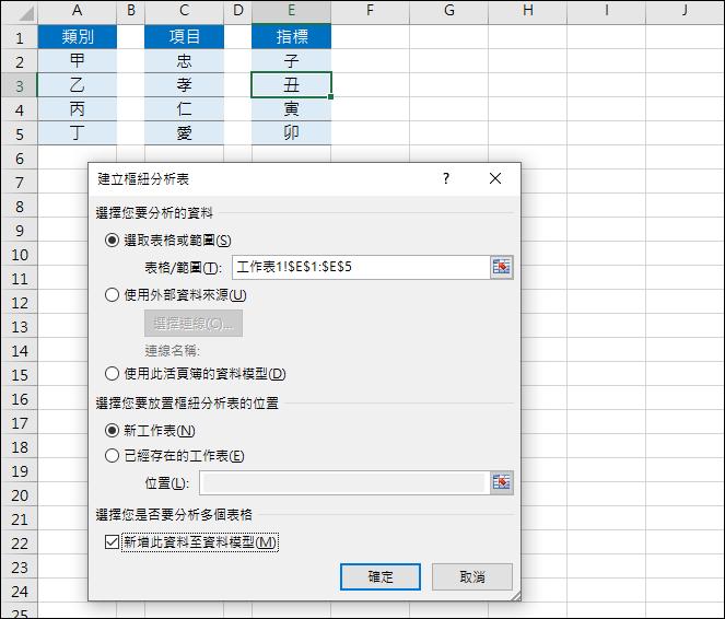 Excel-將多種項目排列組合出不重覆的內容(樞紐分析