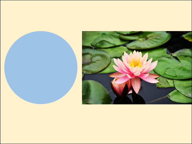 PowerPoint-將相片置入圓形分割的圖案
