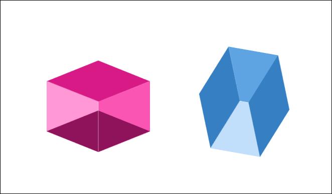 PowerPoint-製作多種立方體圖案