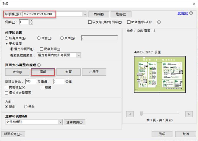 解決將A3格式的PDF檔轉成二頁A4的PDF檔的問題