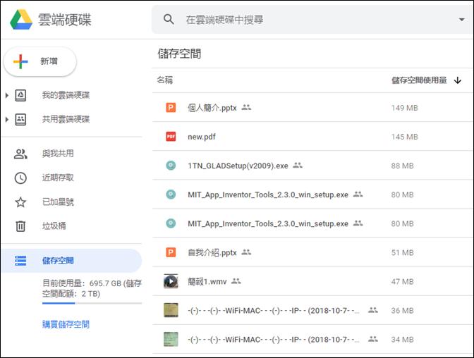 使用工具清理較占用空間的Google雲端硬碟檔案、Gmail郵件、Google相簿的相片和影片