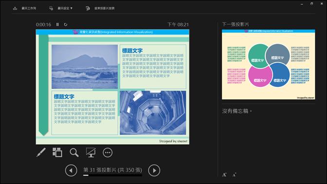 PowerPoint-在雙螢幕或是單螢幕中使用簡報者檢視畫面