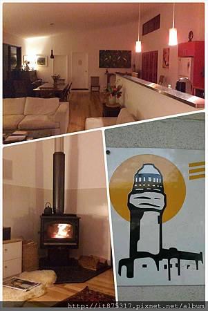 Michael家的火爐與Byron Bay燈塔