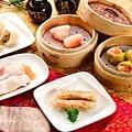 10_大八潮坊港式飲茶自助百匯_鮮蝦粉腸、蝦捲、蟹黃餃.jpg