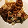 10_漢來海港餐廳_酸溜高麗伴鮑片、九香花枝、三杯花枝、海鮮.jpg