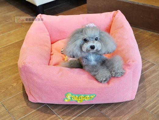 NICOVAER燈芯絨方狗窩 寵物睡墊 寵物睡窩 寵物睡床