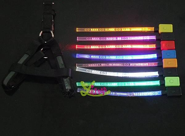 LED發光刻字寵物胸背帶