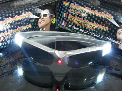 LED柯南眼鏡|太陽能墨鏡激光眼鏡|多功能紅外線糾正眼鏡|發光眼鏡