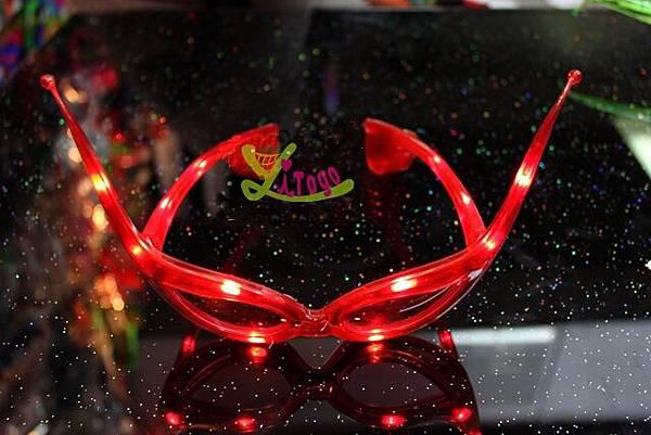 LED 牛角眼鏡 牛角發光眼鏡 派對眼鏡 LED發光眼鏡 牛角造型