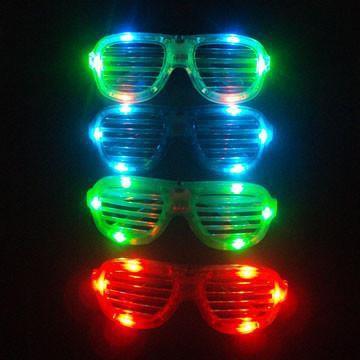 LED眼鏡|發光眼鏡|派對眼鏡|LED發光眼鏡 百葉窗造型 女神卡卡 LADY GAGA造型