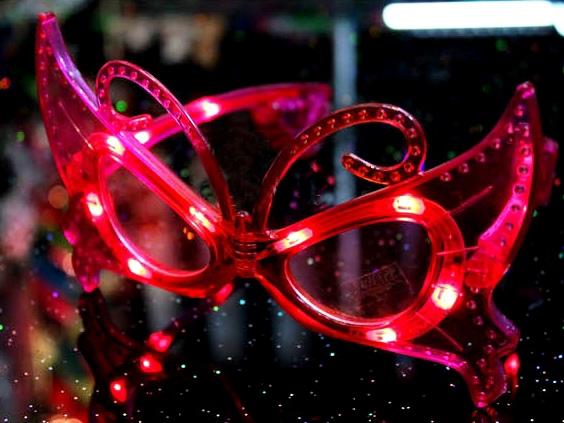 LED眼鏡/發光眼鏡/派對眼鏡/蝴蝶發光眼鏡