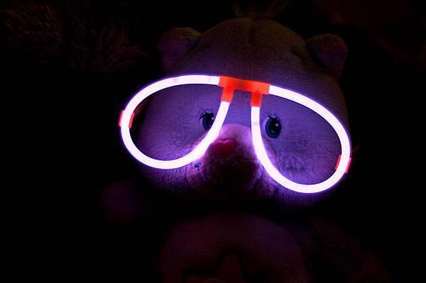 螢光眼鏡|螢光棒眼鏡|發光眼鏡|含鏡架+2條螢光棒