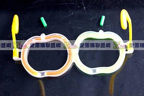 南瓜造型螢光眼鏡 萬聖節扮裝螢光棒眼鏡 舞會發光眼鏡 含兩支螢光棒