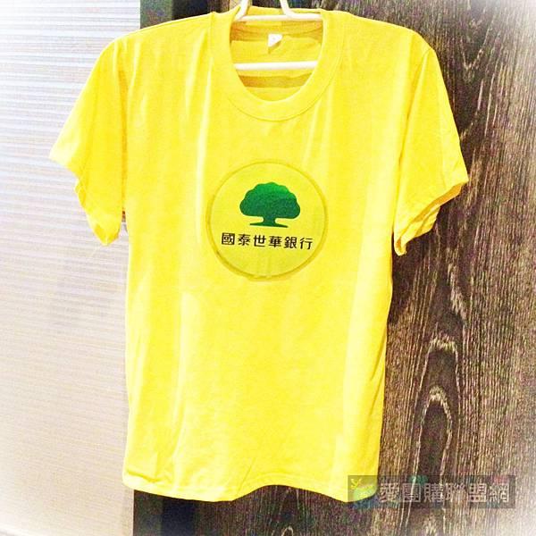 LED聲控發光T恤企業客製 -- 國泰世華