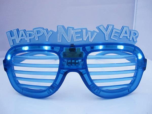 LED 新年快樂發光百葉窗眼鏡|HAPPY NEW YEAR 閃光眼鏡