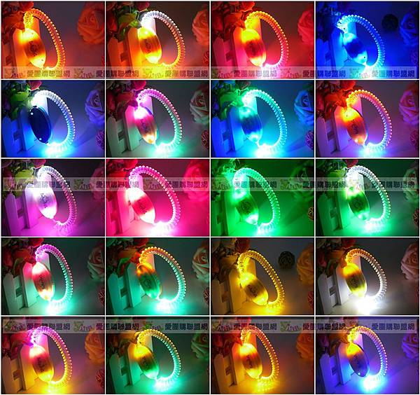 LED 電話線圈發光手環|發光手臂環|發光髮圈 寵物項圈也適用