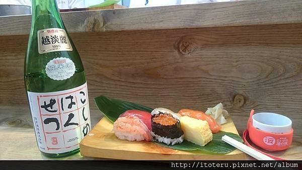 壽司搭清酒