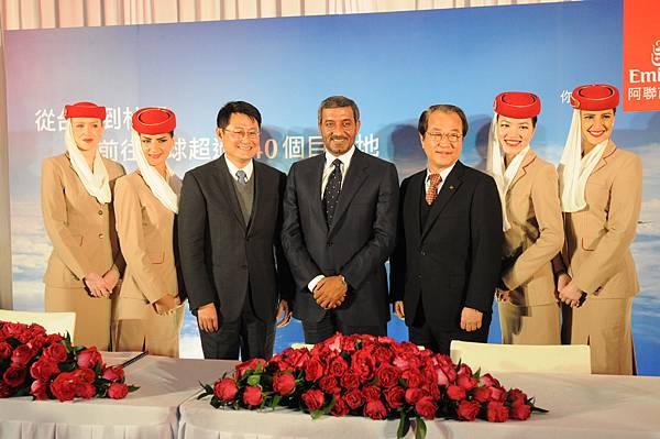 阿聯酋航空台北─杜拜直飛航線啟航記者會