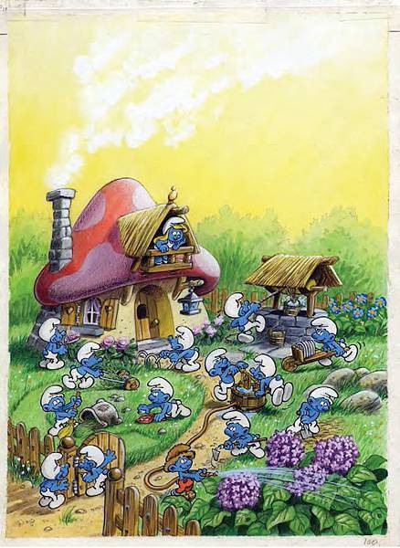 Peyo%5Cs Original Artworks_The Garden of Smurfette.jpg