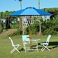 玻璃折疊桌-9尺玻纖鋁中棒休閒傘.JPG