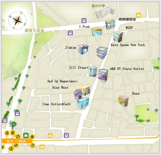 新沙地圖(韓國觀光抓)