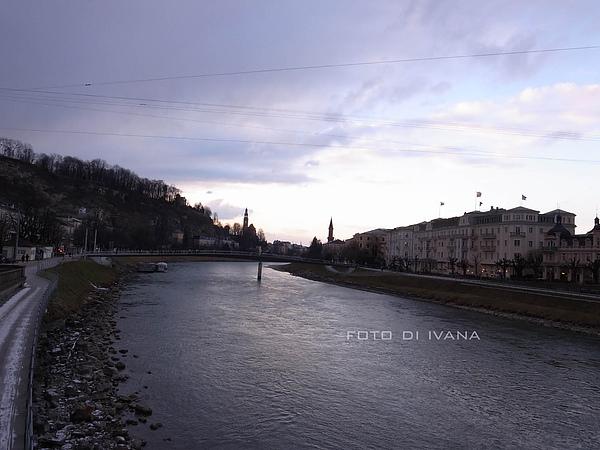 3/5 Salzburg Staatsbrucke橋上 看夕陽