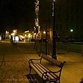 3/6 Vienna 獨自一個人在大雪下拍Opernring人行道上的街燈和椅子