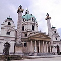 3/7 Karls-kirche 門票很貴的巴洛克教堂!!