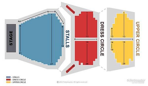 皇后戲院(Queens Theatre)舞台位置對照圖