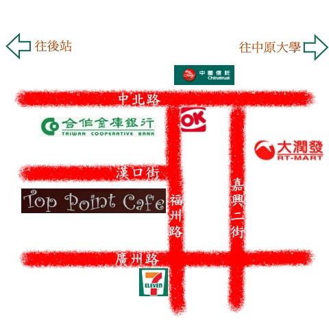 突奌咖啡館位置圖