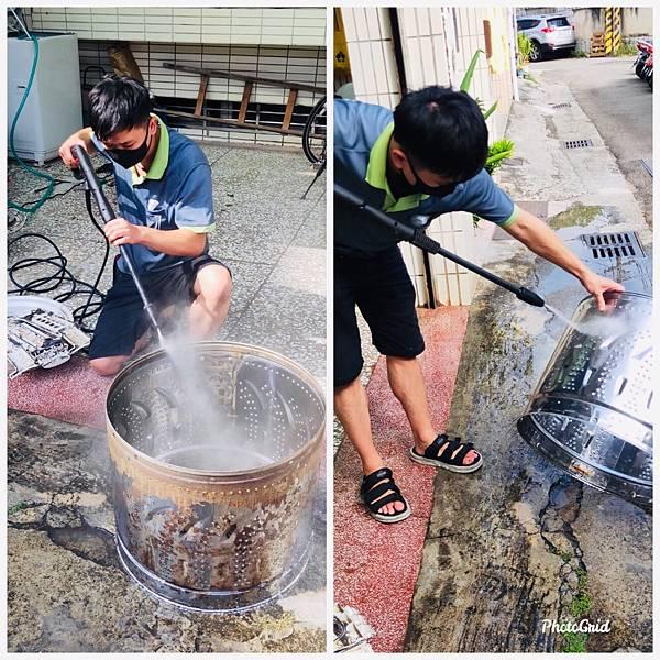 高壓水柱清洗洗衣機