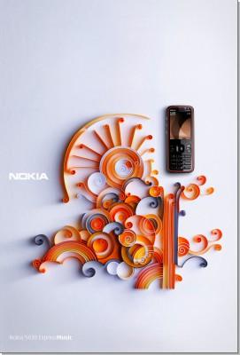 Nokia Paper Art Poster