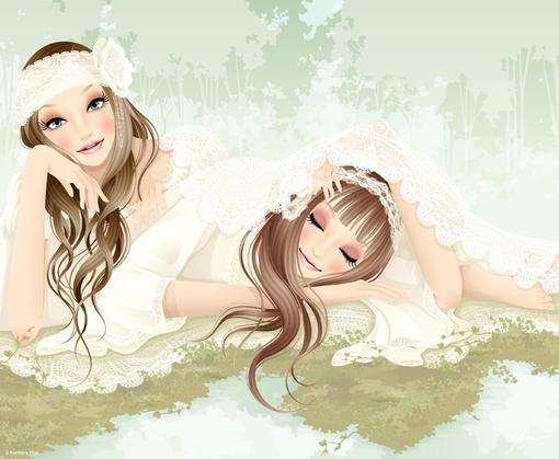 比佐健太郎唯美女性插畫