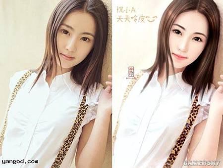 中國版二次元 vs 三次元唯美對比圖