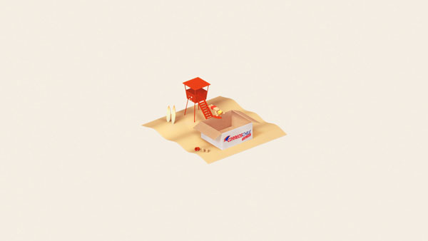 """Lifeguard"" Print Ad for CorreosChile Express by Bbdo/chile"