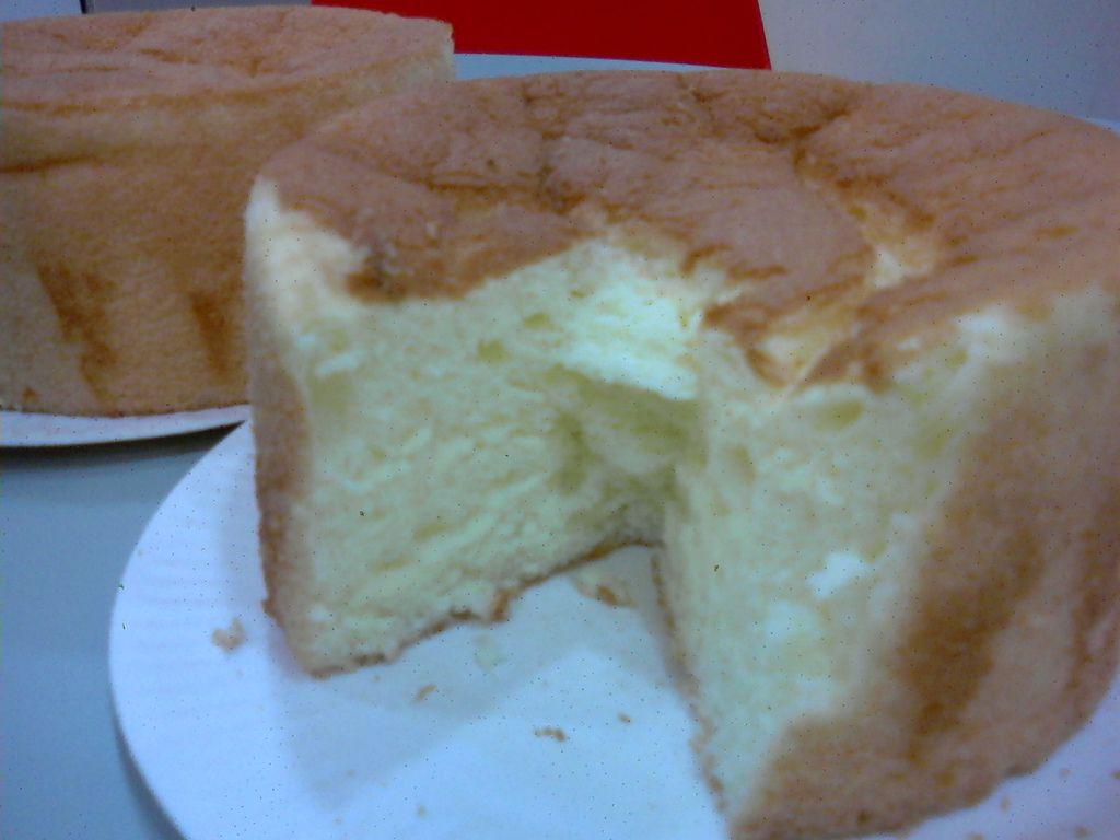 戚風蛋糕剖面