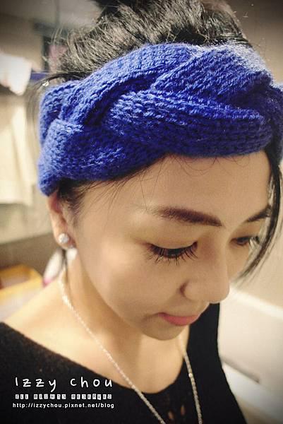 韓系毛線髮帶用法