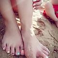 Pantone peach echo nail art 凝膠美甲 光療 指甲彩繪