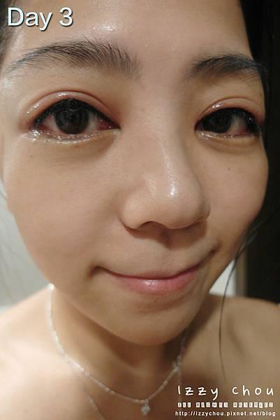 紋繡眼線 第三天