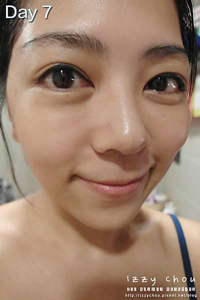紋繡眼線 第七天