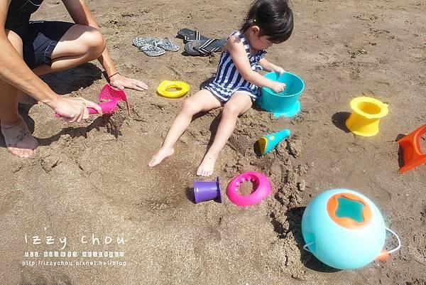 LAVIDA 比利時Quut戲水玩沙組 三層沙堡模