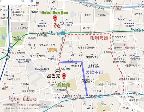 Hotel Bon Bon map