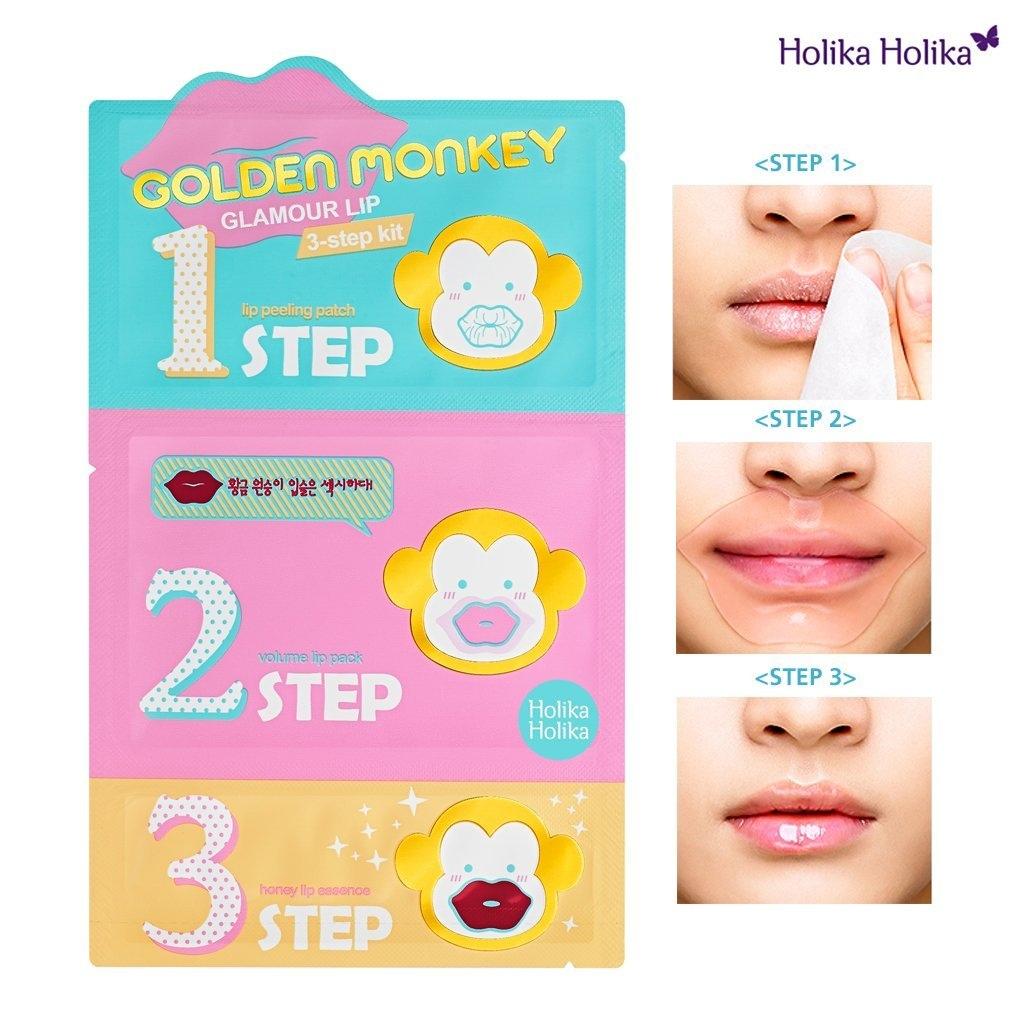 Holika Holika 黃金猴三步驟唇膜