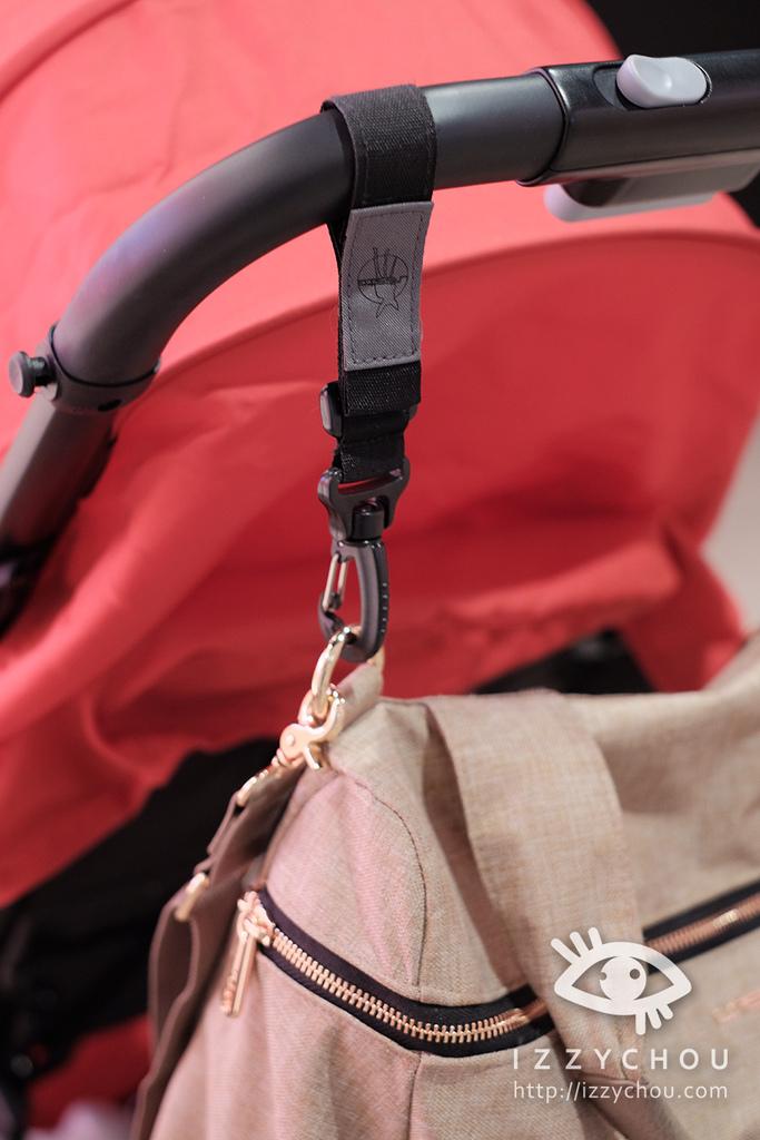德國Lassig 多功能復刻版媽媽包 玫瑰金 可掛推車