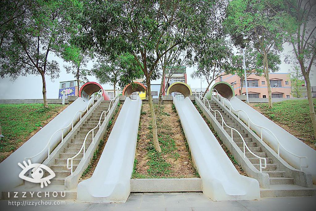 新勢公園 水管溜滑梯