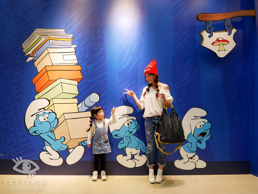 藍色小精靈 愛在17特展 展場門口