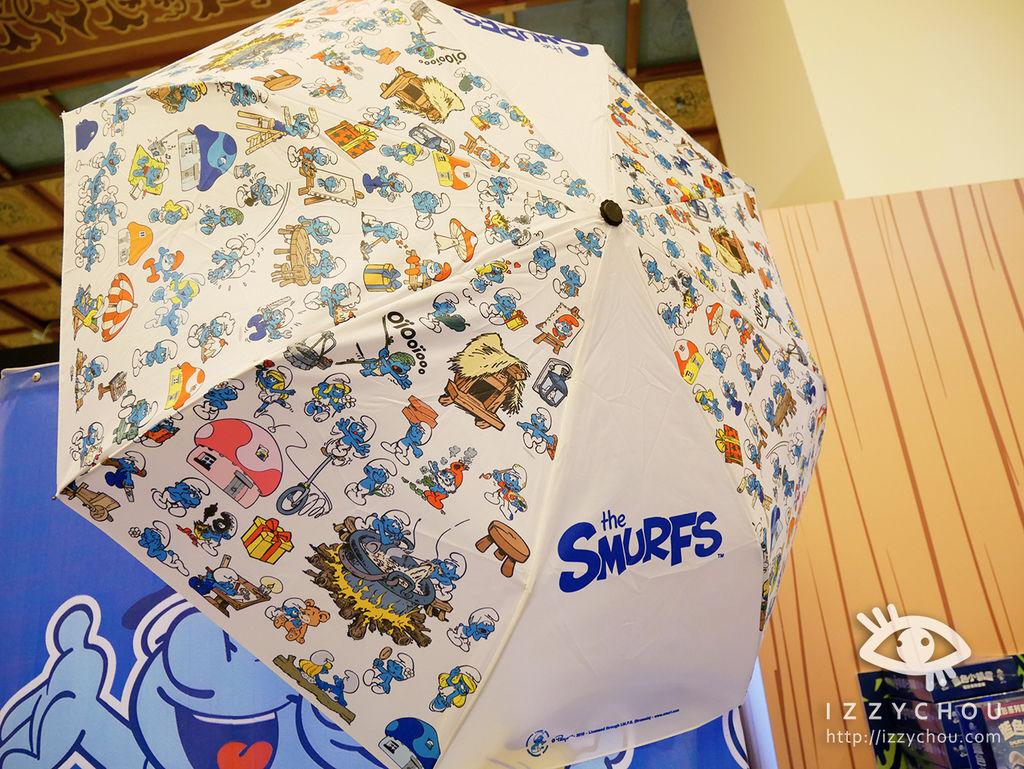 藍色小精靈 愛在17特展 設計折傘