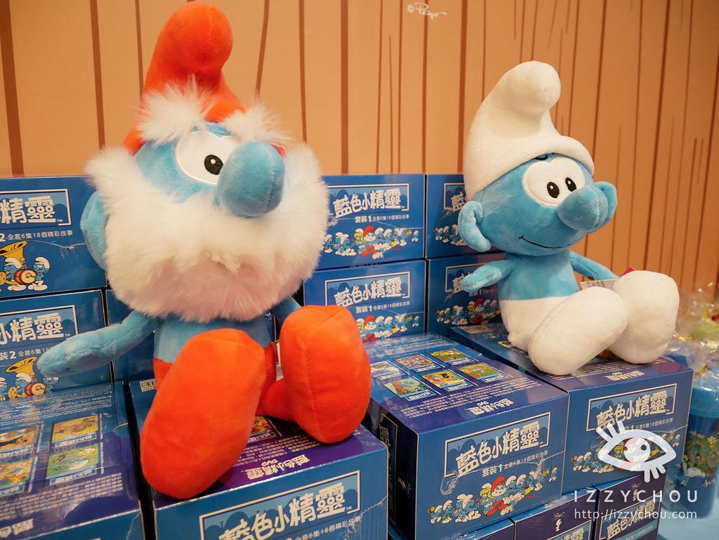 藍色小精靈 愛在17特展 玩偶