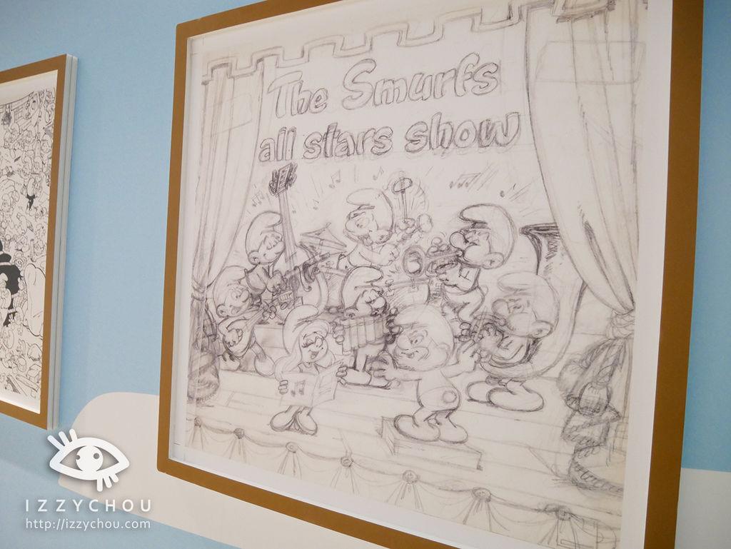 藍色小精靈 愛在17特展 原畫手稿